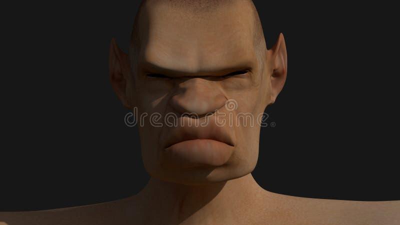 Ogre portrait royalty free illustration