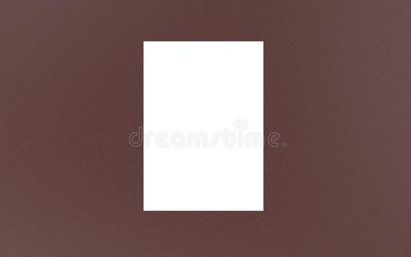 3d render a4 a3 a2 a5 a6 a1 paper. Book. Catalog Blank White Cover template Mock up royalty free illustration