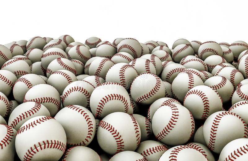 Baseballs pile stock illustration