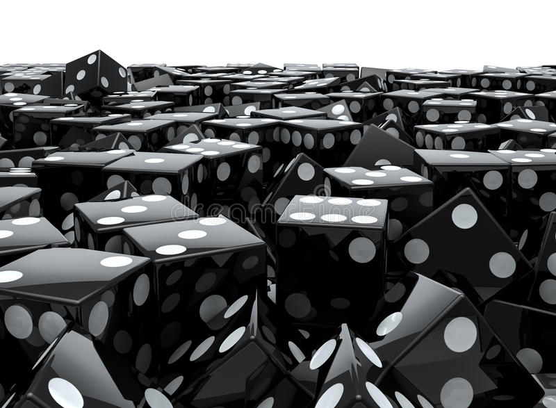 Black Dice Pile Royalty Free Stock Photography
