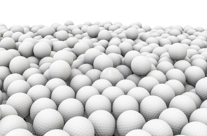 Download Golf balls pile stock illustration. Image of golf, white - 29776182
