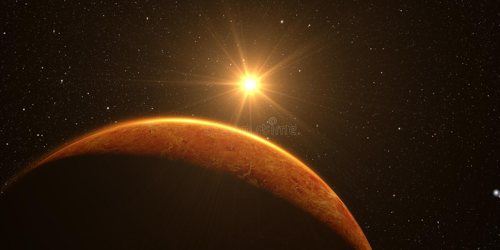 3D render the planet Venus royalty free stock photography