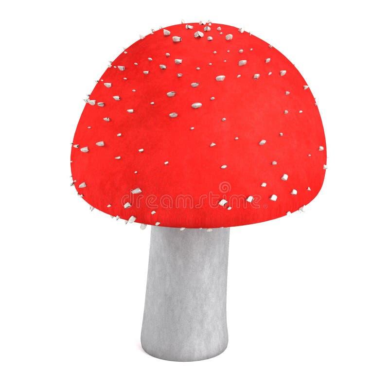 3d render of poison mushroom royalty free illustration