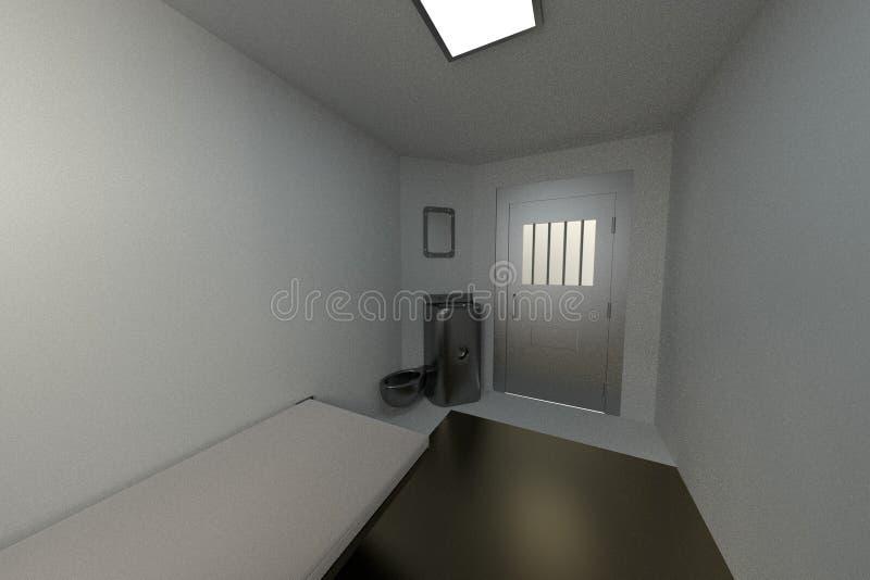 3d render of prison cell vector illustration