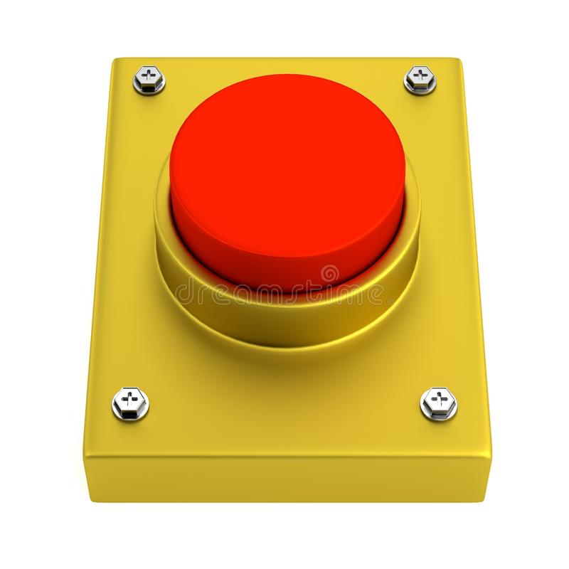 Download 3d render of red button stock illustration. Image of activate - 40116493