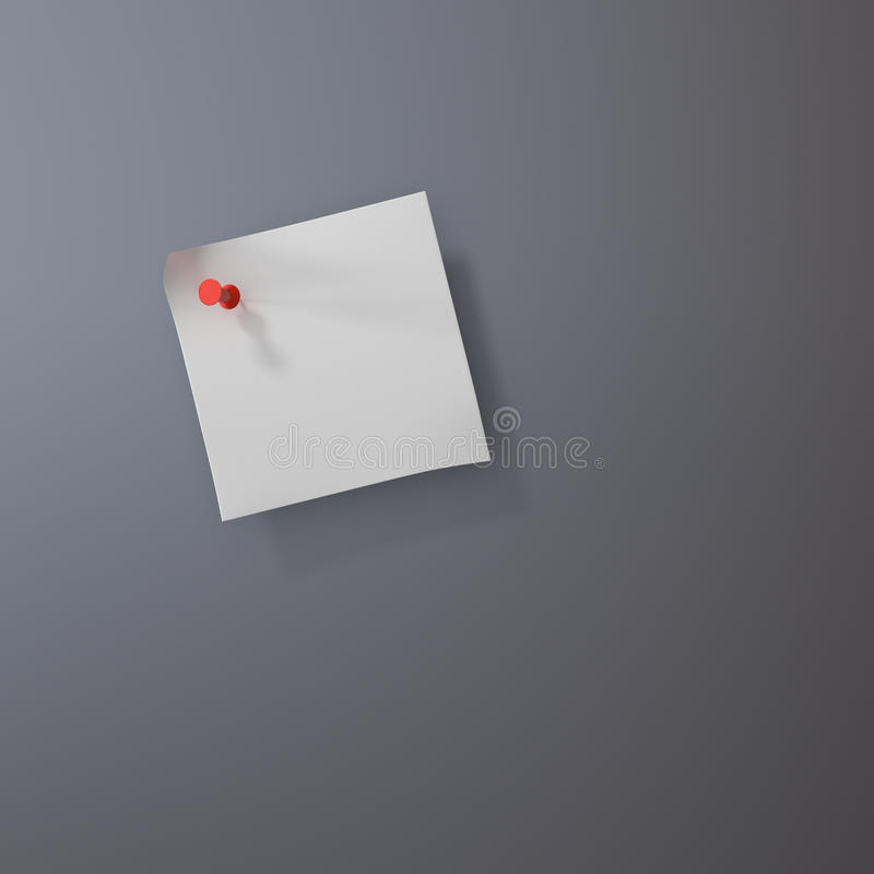Download Post It Note With Push Pin Royalty Free Stock Photos - Image: 30002258