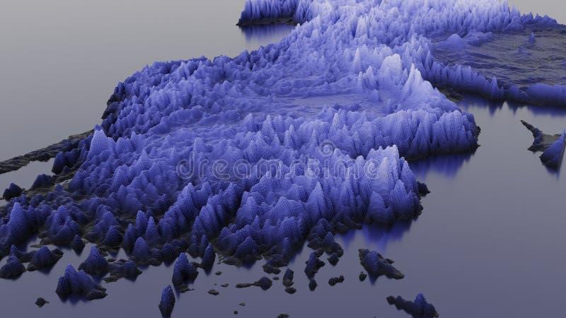 3D Render Rods 3D Hintergrundübersicht stock abbildung
