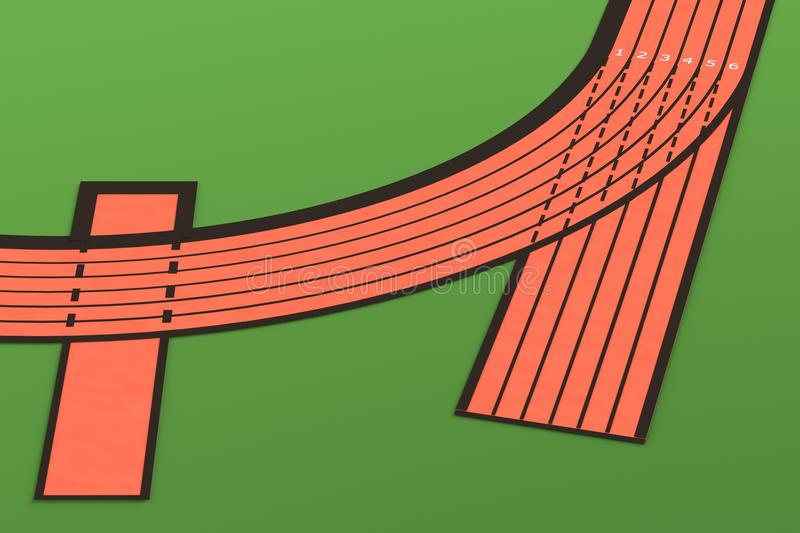 3d render of running track