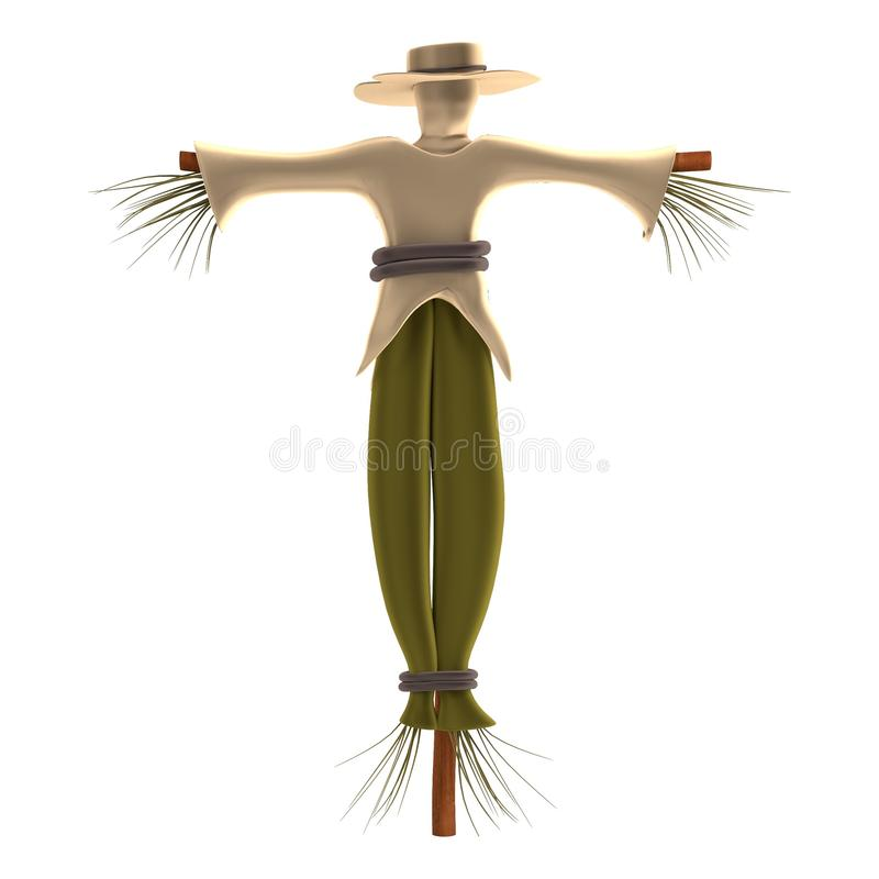 3d Render Of Scarecrow Stock Illustration
