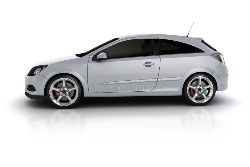 3d render of a sport car vector illustration