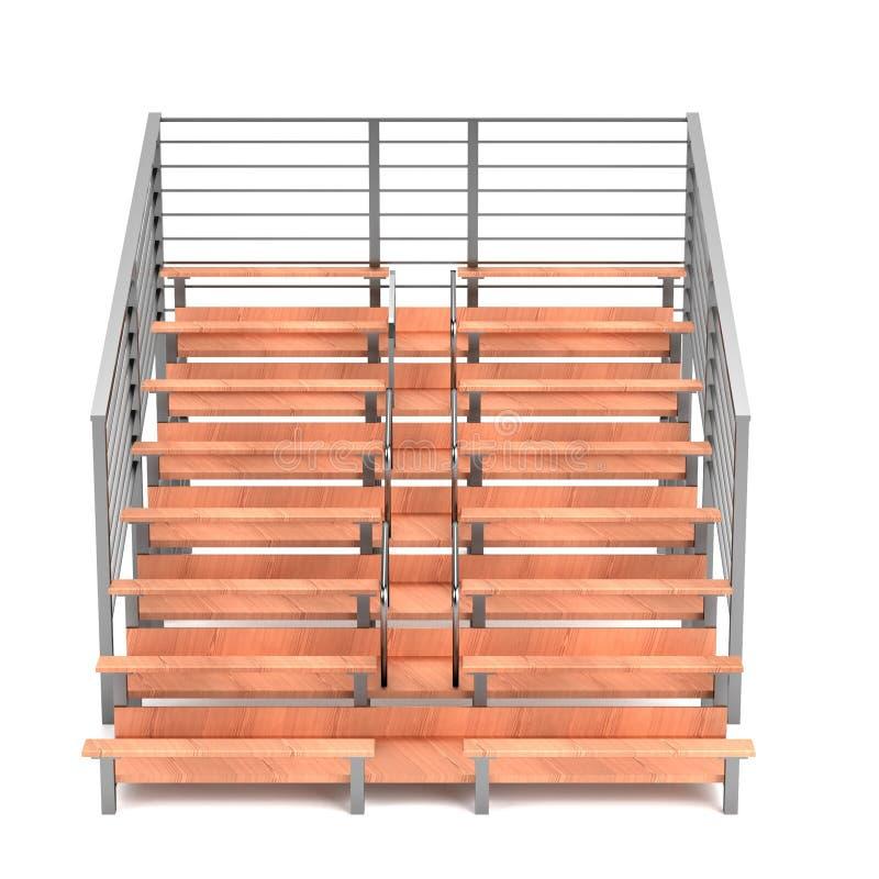 Download 3d render of stadium bench stock illustration. Image of stadium - 40116268