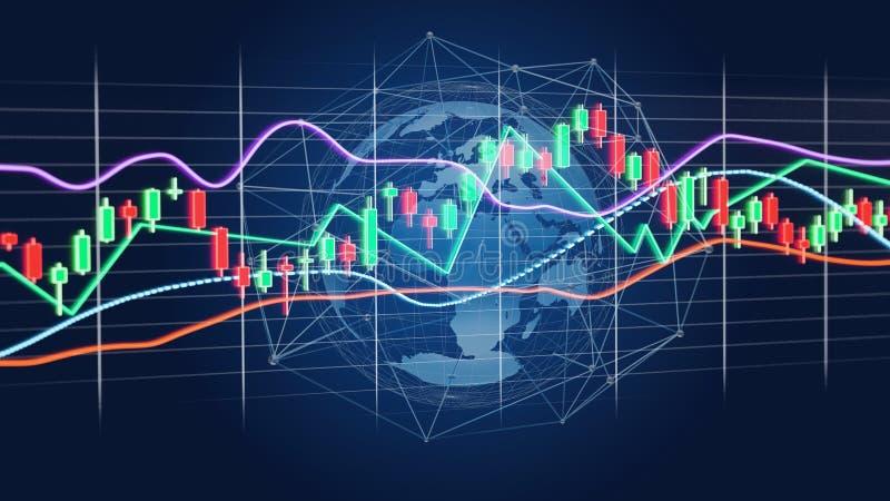 3d render Stock exchange trading data information display on a. View of a 3d render Stock exchange trading data information display on a futuristic interface stock photo