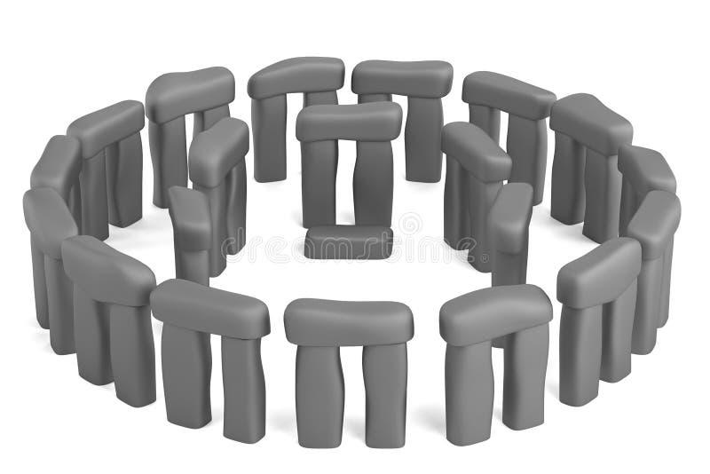 3d render of stonehenge. Realistic 3d render of stonehenge vector illustration