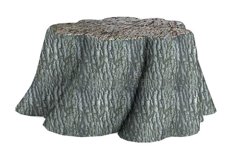Download 3d render of stump stock illustration. Image of object - 40116282