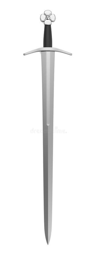 Download 3d render of sword stock illustration. Image of medieval - 40116304