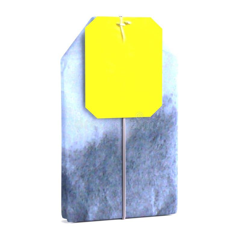 Download 3d render of teabag stock illustration. Image of object - 40116335