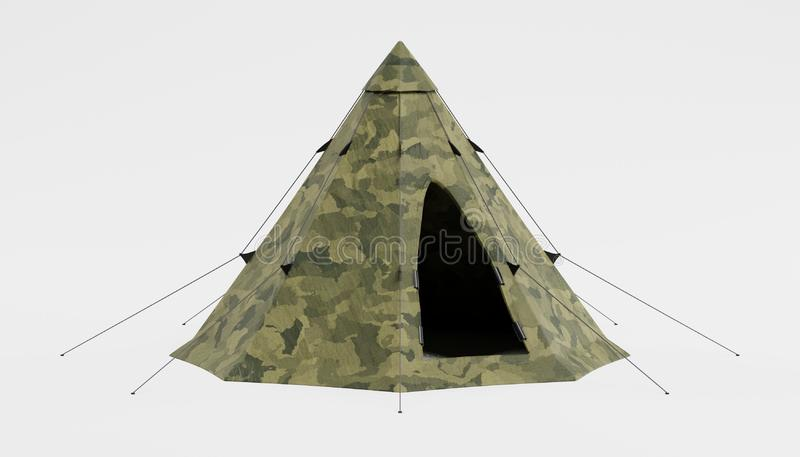 3d Render of Tent royalty free stock photography