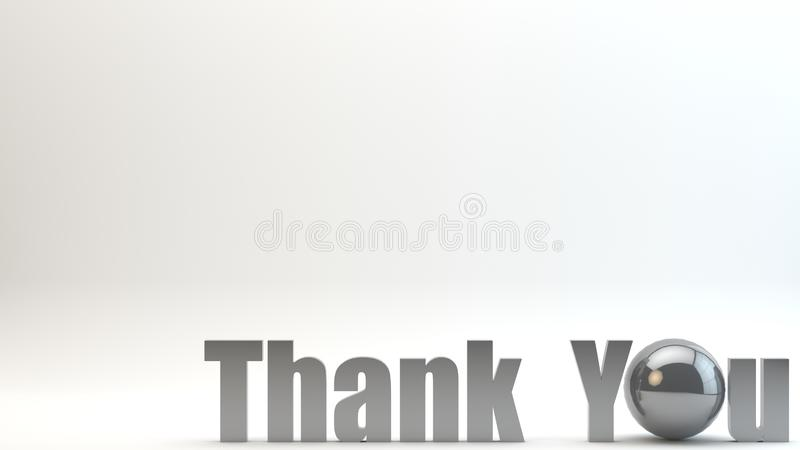 3D Render Text Thank You Background vector illustration