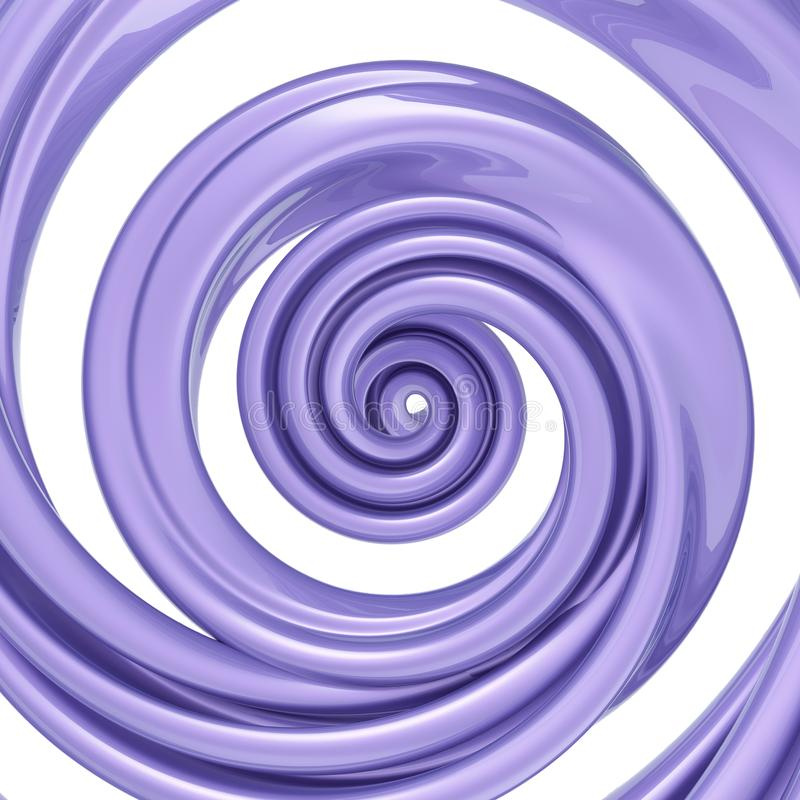 3d render, twisted spiral, violet candy cane, pastel color swirl, whirlpool, helix, abstract background vector illustration