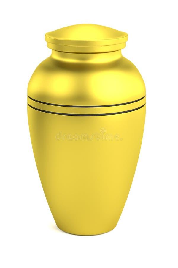 3d render of urn stock illustration