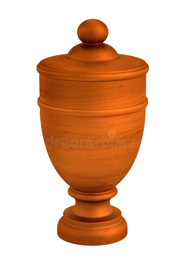 3d render of urn vector illustration