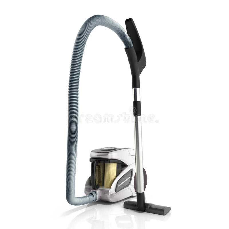3d render of vacuum cleaner isolated on white background vector illustration
