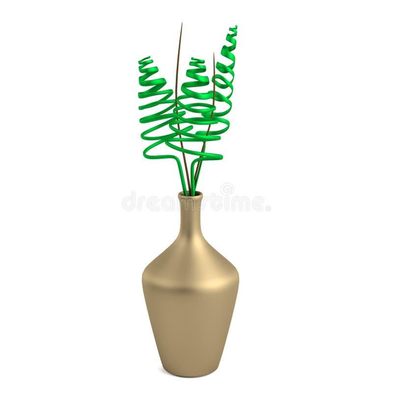 3d Render Of Vase Stock Illustration