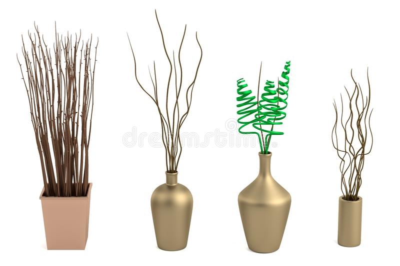 3d Render Of Vases Stock Illustration