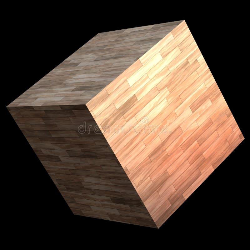 Wooden cube stock illustration