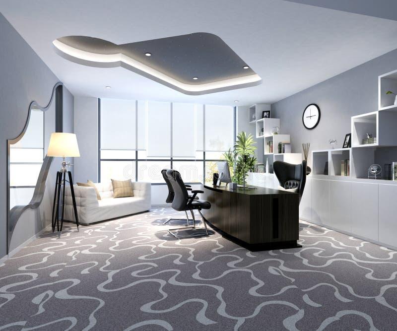 3d render of working room. 3d render of modern working space vector illustration
