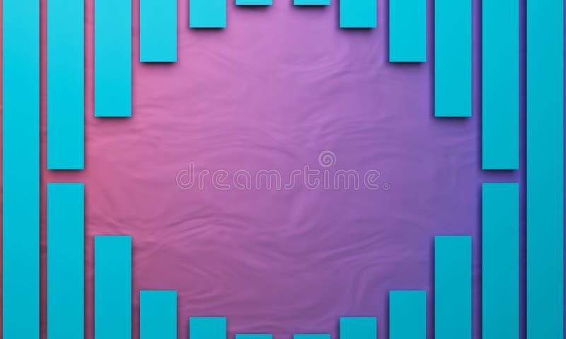3d rendered background. 3d rendered colorful background royalty free illustration