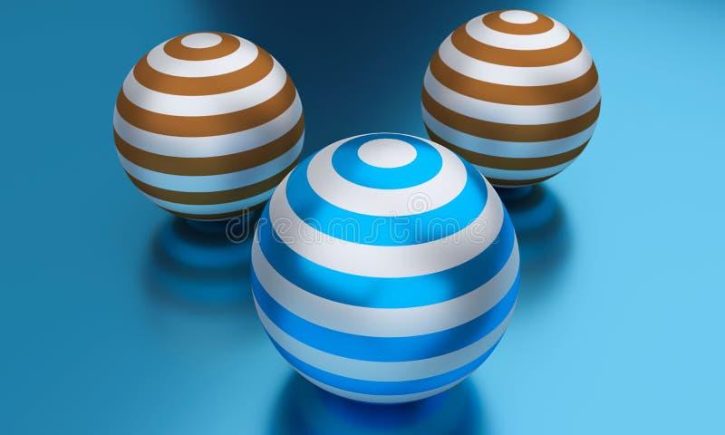 3d rendered balls. 3d rendered plastic balls stock illustration