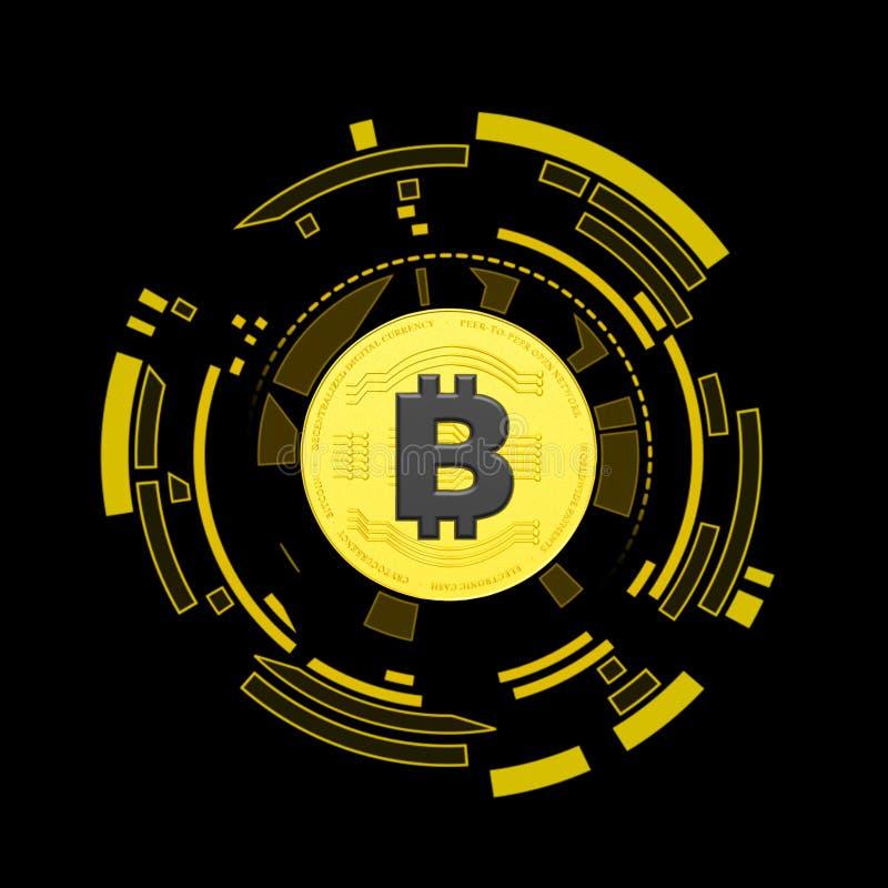 3D rendered Bitcoin illustration vector illustration