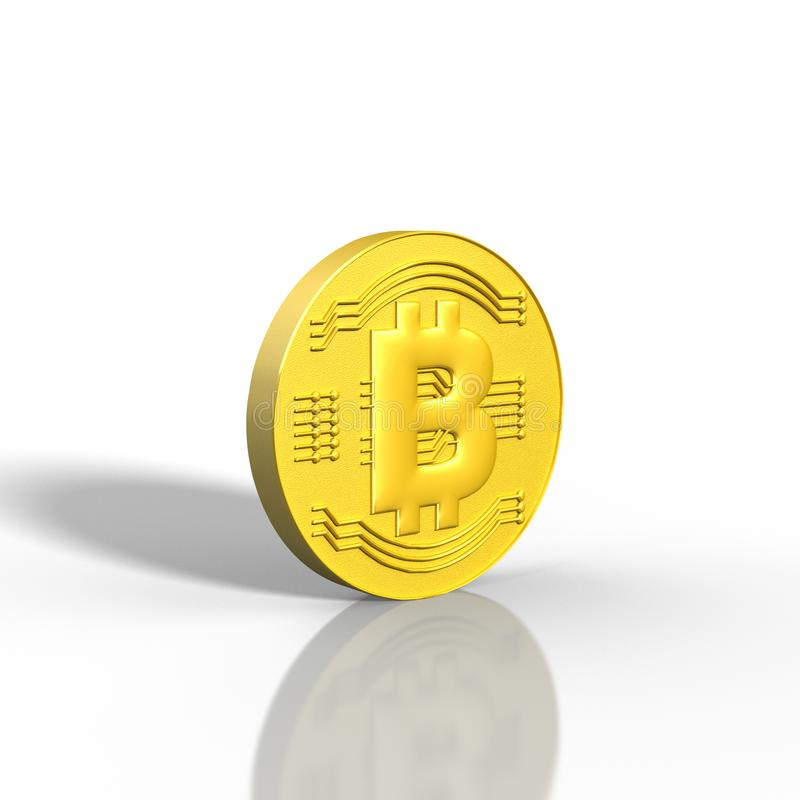 3D rendered Bitcoin illustration. On a white background vector illustration