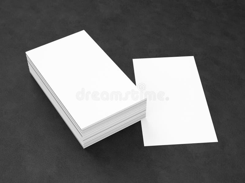 Business Cards Blank Mockup Stock Illustration - Illustration of ...