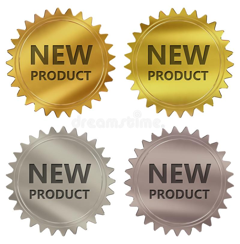 New product guarantee label. 3d rendered 4 color tag , golden guarantee label vector illustration