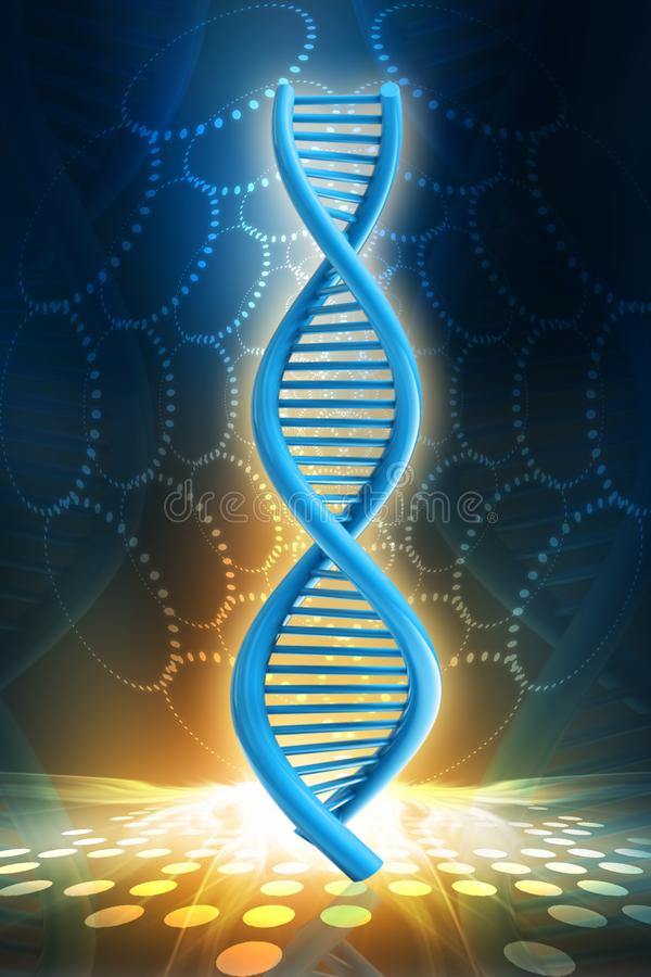 3d rendered dna  isolated on color background. Digital illustration of 3d rendered dna  isolated on color background royalty free illustration