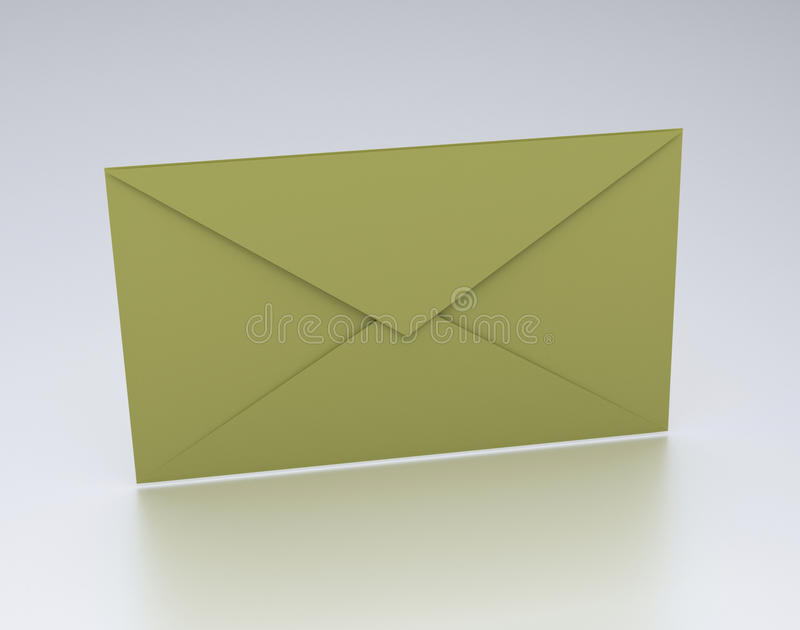3d rendered envelope. Placed on a white background stock illustration