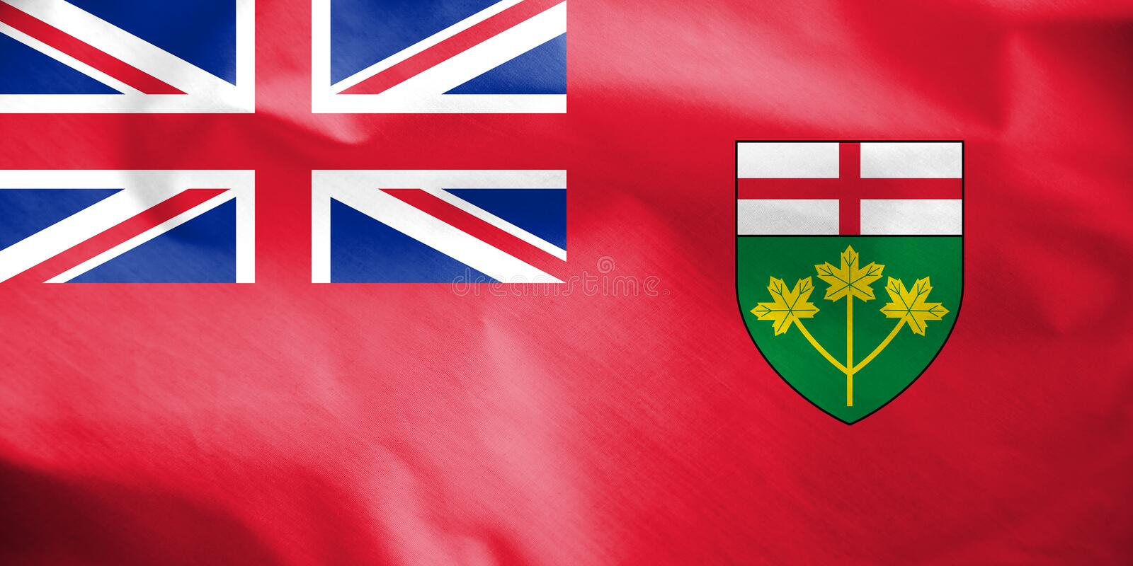Flag of Ontario, Canada. 3d Rendered Flag of Ontario, Canada vector illustration