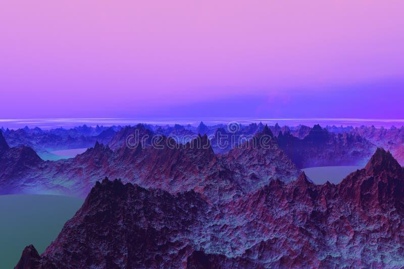 3D rendered Illustration of a Alien Worldr royalty free illustration