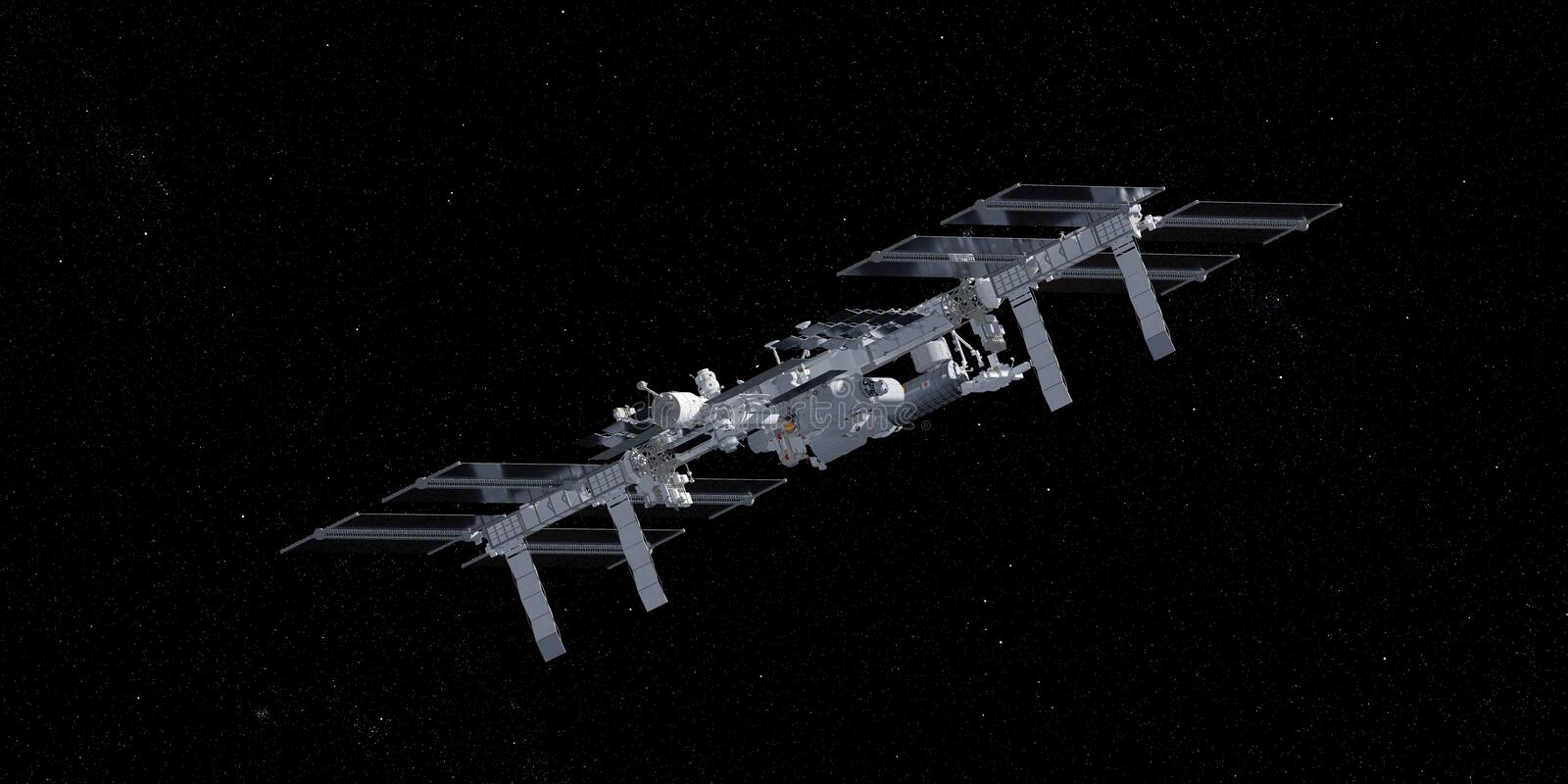 The ISS vector illustration