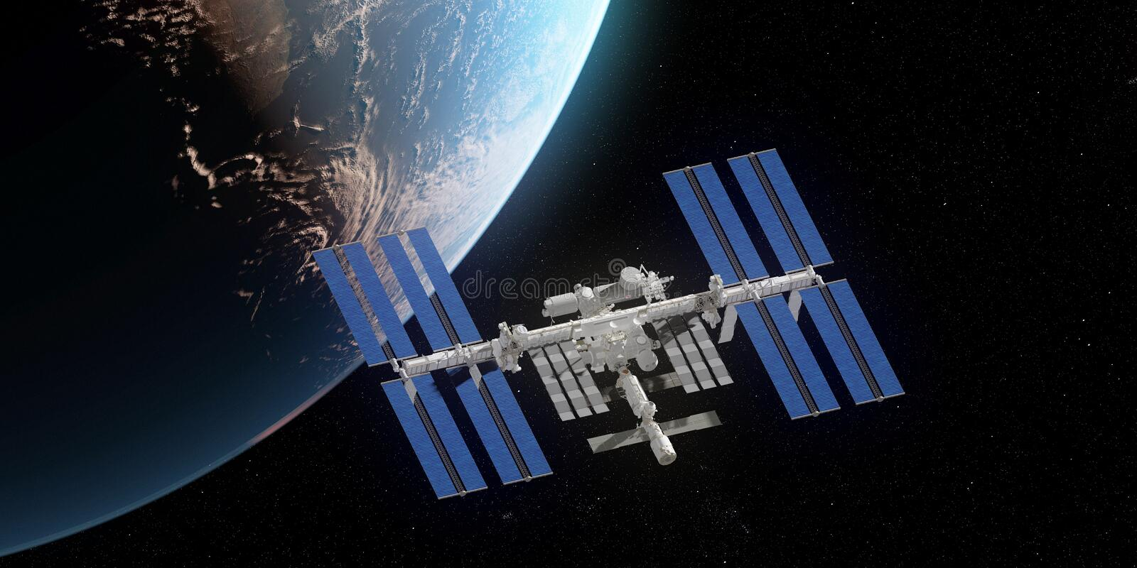 The ISS royalty free illustration