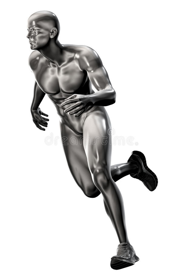 3d rendered illustration of a male running royalty free illustration