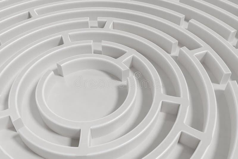 3D rendered illustration of maze.  royalty free illustration