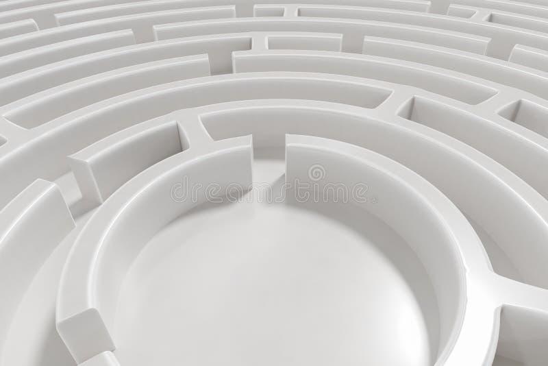 3D rendered illustration of maze.  vector illustration
