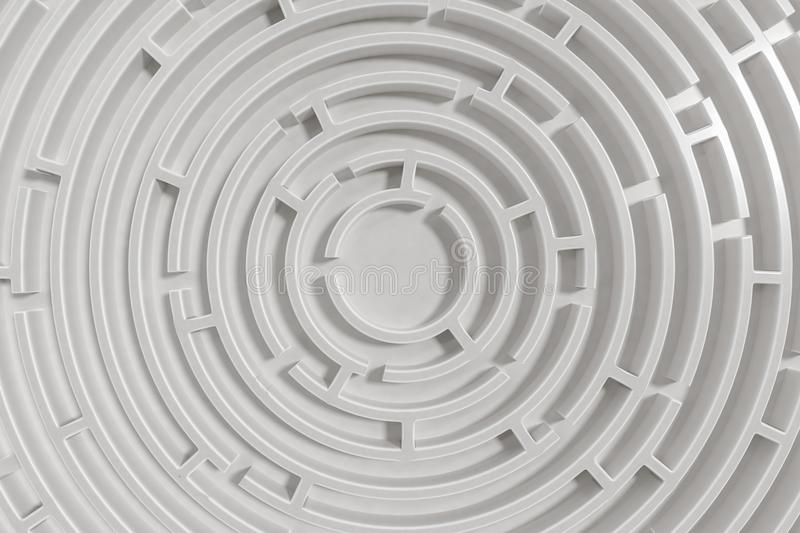 3D rendered illustration of maze. View from top.  vector illustration