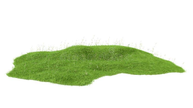 3d rendered illustration of piece of land stock illustration