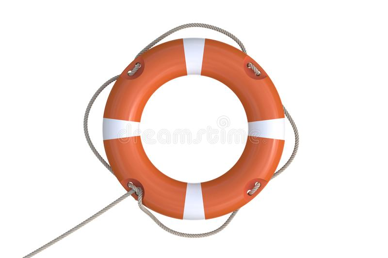 3D rendered illustration of red life buoy. Isolated on white background vector illustration