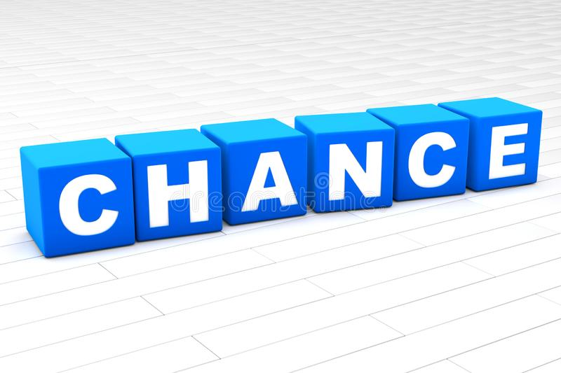 3D illustration of the word Chance vector illustration
