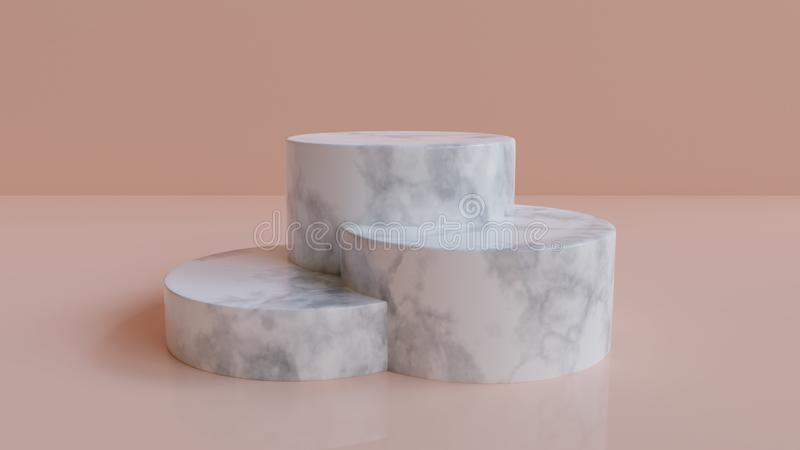 3d rendered marble podium background royalty free illustration